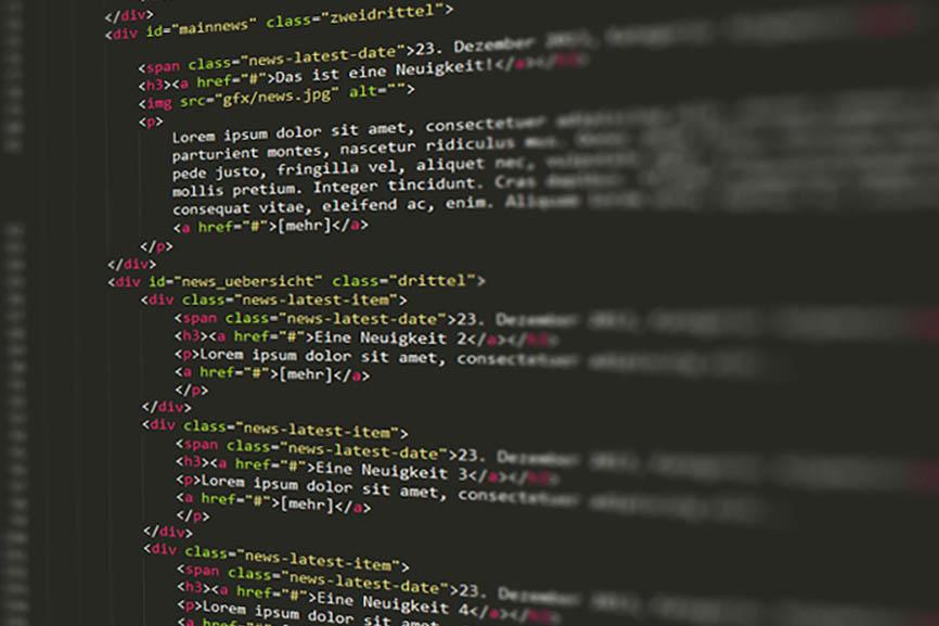 Code-Beispiel aus einem Text-Editor