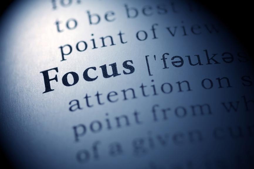 Das Wort Focus als Auszug aus einem Wörterbuch