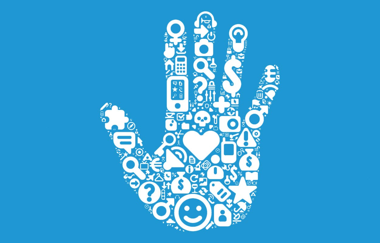 Corporate Identity symbolisiert als Hand