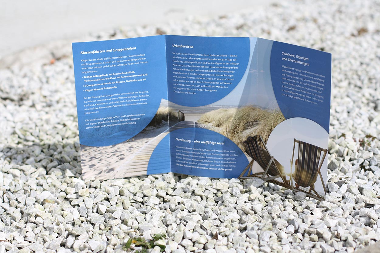 Corporate Design Klipper Norderney – Flyer-Innenseite