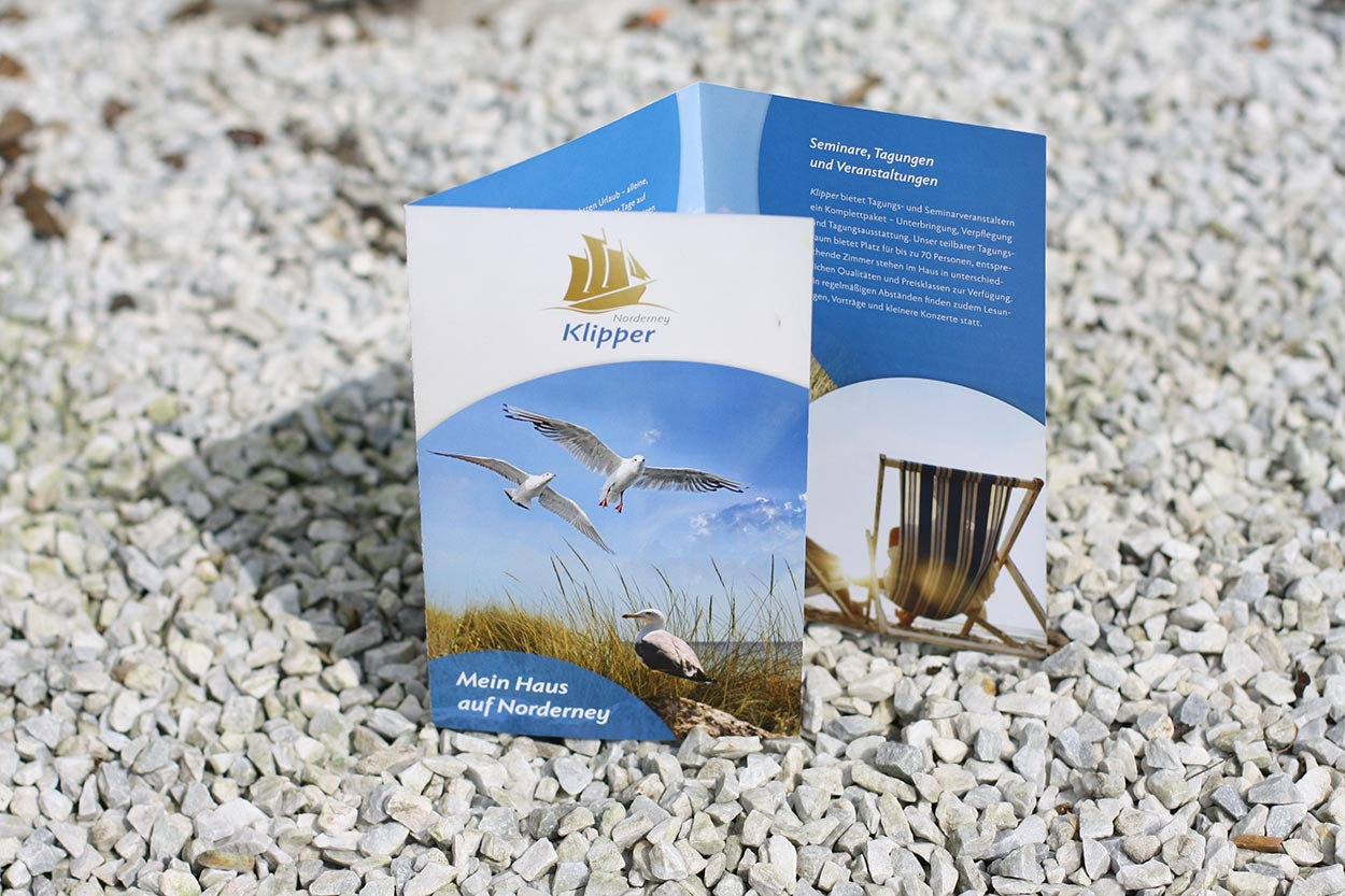 Corporate Design Klipper Norderney – Flyer