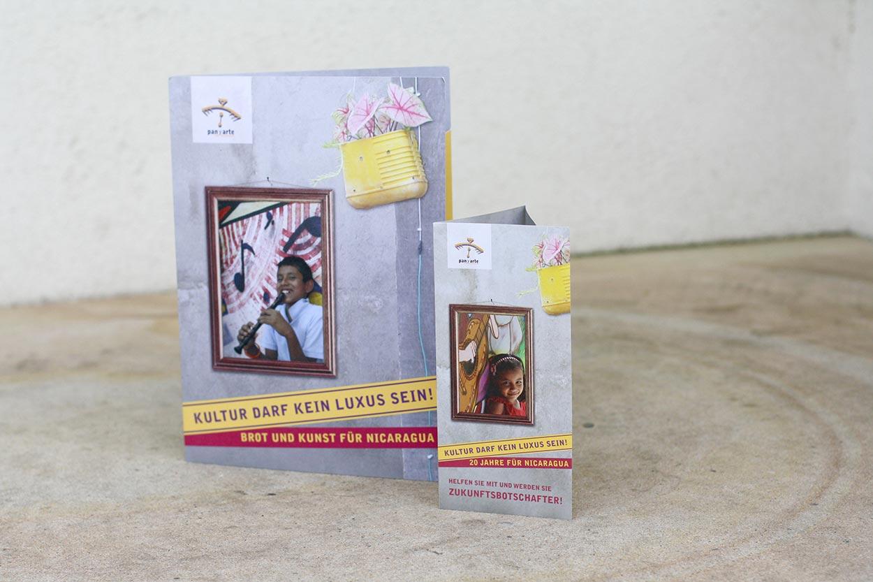 Spendenkampagne Pan y Arte – Flyer