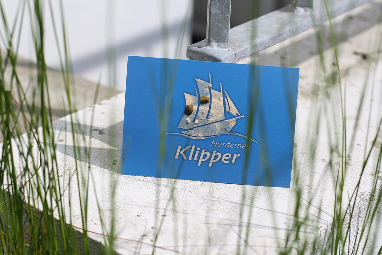 Corporate Design Klipper Norderney – Postkarte
