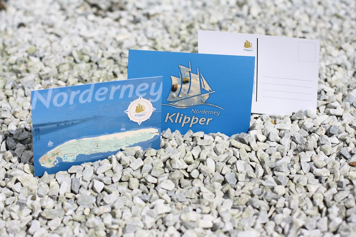 Corporate Design Klipper Norderney – Postkarten