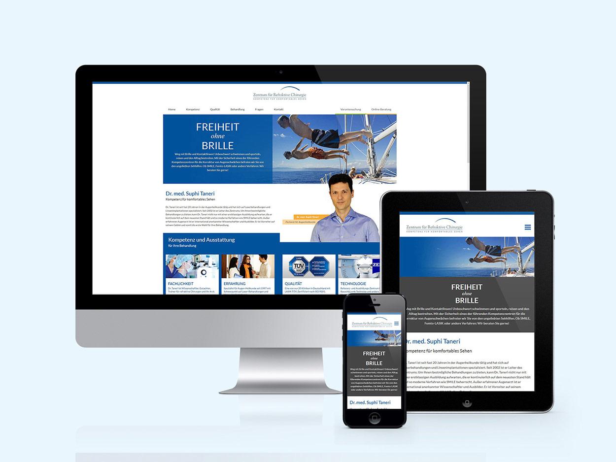 Website Zentrum für Refraktive Chirurgie