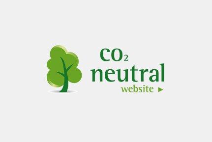 Auszeichnung CO² neutrale Website